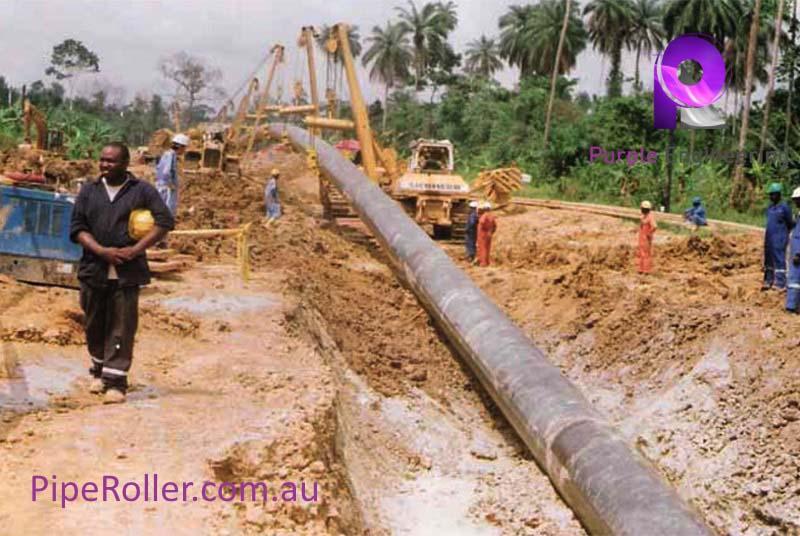 Pipeline Cradle, pipeline Cradle roller